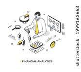 financial analytics. man... | Shutterstock .eps vector #1999163663