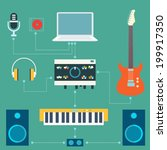 scheme of sound recording... | Shutterstock .eps vector #199917350