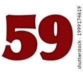 number fifty nine vector...   Shutterstock .eps vector #1999174619