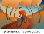 a young guy in a helmet rides a ...   Shutterstock .eps vector #1999192193
