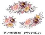 flower arrangement and bouquet...   Shutterstock .eps vector #1999198199