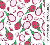seamless pattern with summer...   Shutterstock .eps vector #1999203809