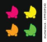 baby black stroller transport... | Shutterstock .eps vector #1999209140