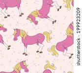colorful seamless pattern with... | Shutterstock .eps vector #199923209