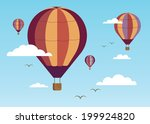 hot air balloons in the blue... | Shutterstock .eps vector #199924820