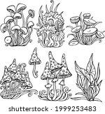 mushrooms fly agaric vector...   Shutterstock .eps vector #1999253483