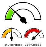 gauge  meter templates....   Shutterstock .eps vector #199925888