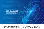 blue pcb dot line abstract...   Shutterstock .eps vector #1999291643