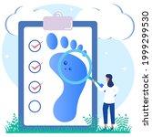 vector illustration of podiatry ...   Shutterstock .eps vector #1999299530