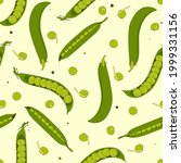 pea and pod set background.... | Shutterstock .eps vector #1999331156