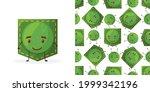 seamless pattern peas shaped... | Shutterstock .eps vector #1999342196