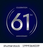61th anniversary. sixty one...   Shutterstock .eps vector #1999364039