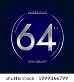 64th anniversary. sixty four...   Shutterstock .eps vector #1999366799