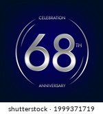 68th anniversary. sixty eight...   Shutterstock .eps vector #1999371719