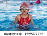Indian Child Swimming In The...