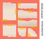 torn paper sheet collection....   Shutterstock .eps vector #1999373030