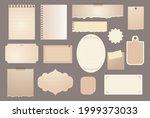 torn paper sheet collection....   Shutterstock .eps vector #1999373033