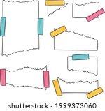 torn paper sheet collection....   Shutterstock .eps vector #1999373060