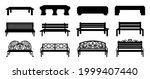 bench silhouette. black wooden... | Shutterstock .eps vector #1999407440