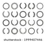 wreath circle. black laurel... | Shutterstock .eps vector #1999407446
