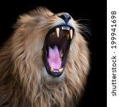 Huge Fangs Of Asian Lion ...