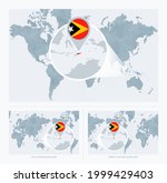 magnified east timor over map... | Shutterstock .eps vector #1999429403