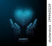 abstract vector 3d human hands... | Shutterstock .eps vector #1999435229