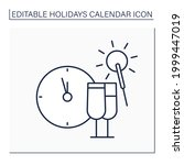 new year eve line icon.... | Shutterstock .eps vector #1999447019