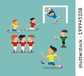 brazil and argentina soccer... | Shutterstock .eps vector #199945208