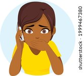 young black teenager girl with... | Shutterstock .eps vector #1999467380