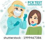 female doctor performing pcr... | Shutterstock .eps vector #1999467386