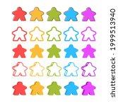 multicolor meeple vector... | Shutterstock .eps vector #1999513940