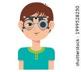 children vision checkup in... | Shutterstock .eps vector #1999528250
