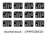 set calendar flat icon design...