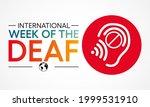 international week of the deaf... | Shutterstock .eps vector #1999531910