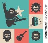 rock musician | Shutterstock .eps vector #199954049