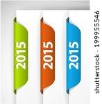 vector 2015 labels   stickers... | Shutterstock .eps vector #199955546