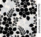elegant seamless pattern with... | Shutterstock .eps vector #199957790