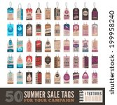 collection of 50 clean summer... | Shutterstock .eps vector #199958240