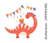 cartoon cute dinosaur for...   Shutterstock .eps vector #1999591583