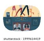 loud noisy neighbours having...   Shutterstock .eps vector #1999614419