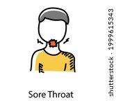 throat disease  doodle icon of... | Shutterstock .eps vector #1999615343