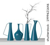 beautiful vase  modern ceramic...   Shutterstock .eps vector #1999621646