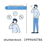 illustration of a man on the...   Shutterstock .eps vector #1999640786