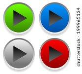 play buttons  right arrow set | Shutterstock .eps vector #199965134