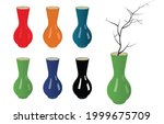 beautiful colorful vases ...   Shutterstock .eps vector #1999675709