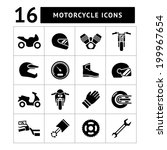 set icons of motorcycle... | Shutterstock .eps vector #199967654