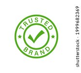 trusted brand badge label icon... | Shutterstock .eps vector #1999682369