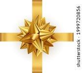 shiny color satin ribbon on... | Shutterstock .eps vector #1999720856