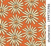 70s style large scale floral... | Shutterstock .eps vector #1999731986